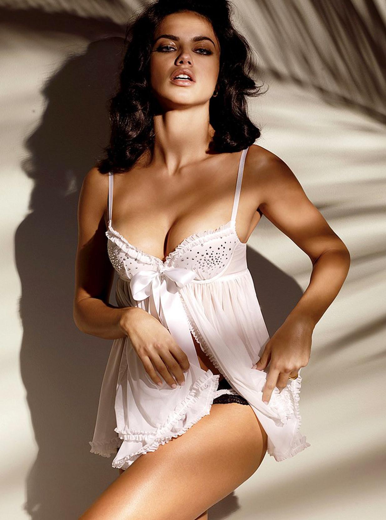 Adriana Lima Wear Sexy Lingerie for Victorias Secret Catalog February 2012-17