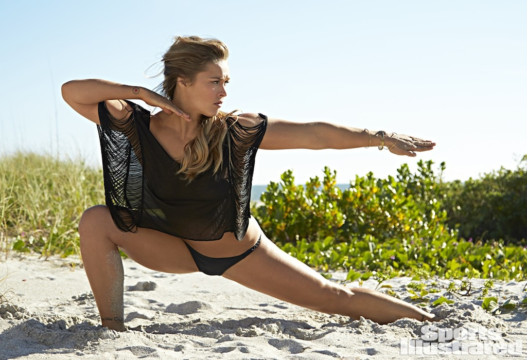 SI Swimsuit 2015 - Athletes Shoot Ronda Rousey South Seas Resort/Captiva Island, Florida, USA 11/11/2014 X158908 TK1 Credit: Walter Iooss Jr. Swimsuit Top by: Belusso Swimsuit Bottom by: Vix