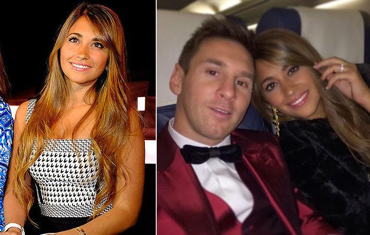 Antonella Roccuzzo (mulher de Lionel Messi, do Barcelona)