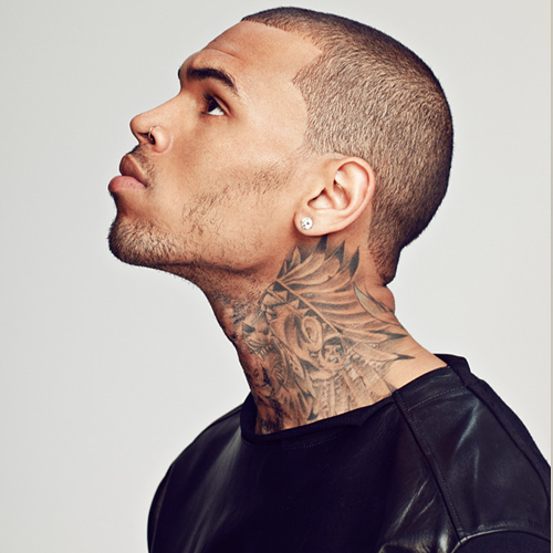 chris brown neck tattoo